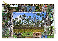 Southeastern Pine Forest Wildlife Poster Carry-all Pouch