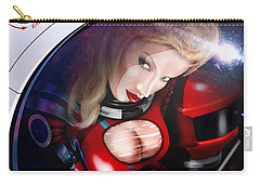 Carry-all Pouch featuring the digital art Space Girl by Doug Schramm
