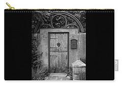 Spanish Renaissance Courtyard Door Carry-all Pouch by Judy Wanamaker