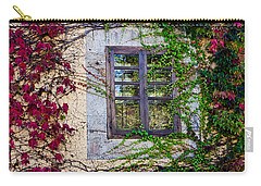 Carry-all Pouch featuring the photograph Spanish Window by Don Schwartz