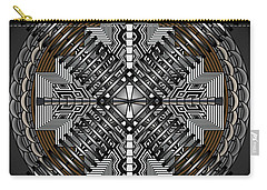 Carry-all Pouch featuring the digital art Spectral Formations by Mario Carini