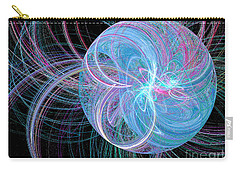 Carry-all Pouch featuring the digital art Spherical Symphony by Kim Sy Ok