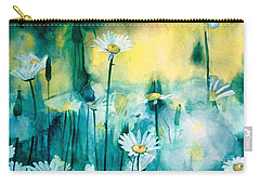 Splash Of Daisies Carry-all Pouch by Cyndi Brewer
