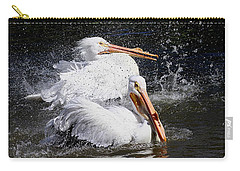 Carry-all Pouch featuring the photograph Splish Splash by Elizabeth Winter