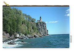 Carry-all Pouch featuring the photograph Split Rock by Bonfire Photography