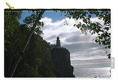Carry-all Pouch featuring the photograph Split Rock II by Bonfire Photography