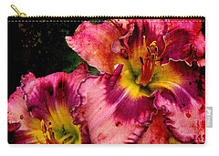 Carry-all Pouch featuring the photograph Spring Blooms by Davandra Cribbie
