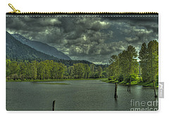 Spring Clouds At The Nicomen Slough Carry-all Pouch by Rod Wiens