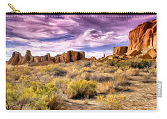 Spring Rain At Chaco Canyon Carry-all Pouch