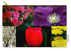 Carry-all Pouch featuring the digital art Springtime Blooms Collage by Kay Novy