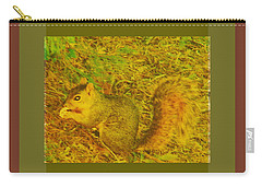 Carry-all Pouch featuring the photograph Squirrel Under My Tree by Lenore Senior