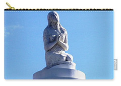 Carry-all Pouch featuring the photograph St. Louis Cemetery Statue 1 by Alys Caviness-Gober