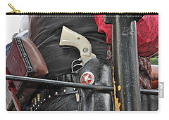 Carry-all Pouch featuring the photograph Stagecoach Guard by Bill Owen