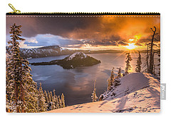 Starburst Sunrise At Crater Lake Carry-all Pouch