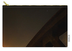 Carry-all Pouch featuring the photograph Starry Night On Sunset Bridge by Andy Prendy