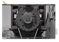 Carry-all Pouch featuring the photograph Steam Engine Train by Deniece Platt