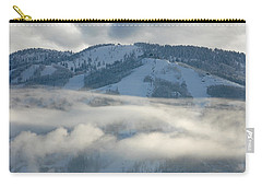 Carry-all Pouch featuring the photograph Steamboat Ski Area In Clouds by Don Schwartz