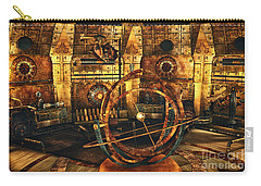 Steampunk Time Lab Carry-all Pouch by Jutta Maria Pusl