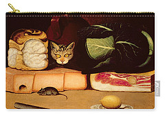 Still Life With Cat And Mouse Carry-all Pouch