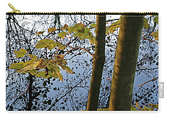 Carry-all Pouch featuring the photograph Still Waters In The Fall by Andy Prendy