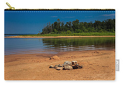 Stones On The Beach Carry-all Pouch by Doug Long