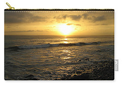 Carry-all Pouch featuring the photograph Storm At Sea by Bruce Carpenter