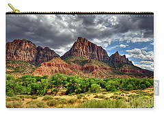 Storm Brewing In Desert Carry-all Pouch by Rod Wiens