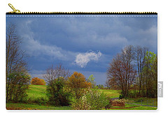 Carry-all Pouch featuring the photograph Storm Cell by Kathryn Meyer