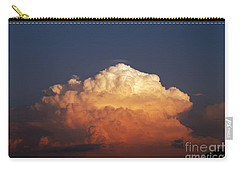 Carry-all Pouch featuring the photograph Storm Clouds At Sunset by Mark Dodd