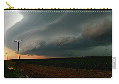 Carry-all Pouch featuring the photograph Storm Front by Debbie Portwood