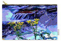 Stream And Flowers Carry-all Pouch