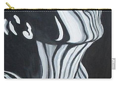 Carry-all Pouch featuring the painting Stripes by Julie Brugh Riffey