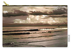 Carry-all Pouch featuring the photograph Summer Afternoon At The Beach by Steven Sparks