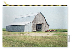 Carry-all Pouch featuring the digital art Summer Barn by Debbie Portwood