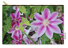 Summer Clematis Carry-all Pouch