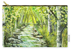 Carry-all Pouch featuring the painting Summer by Shana Rowe Jackson