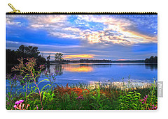 Carry-all Pouch featuring the photograph Summertime Walk Around Lake  by Randall Branham
