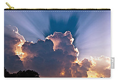 Sun Rays And Clouds Carry-all Pouch