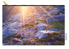 Carry-all Pouch featuring the photograph Sunburst Over Abyss Lake by Jim Garrison