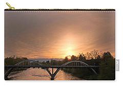 Sunburst Sunset Over Caveman Bridge Carry-all Pouch