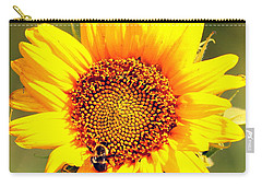 Sunflower And Bee Carry-all Pouch by Paul  Wilford