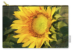 Carry-all Pouch featuring the digital art Sunflower Digital Art by Deniece Platt