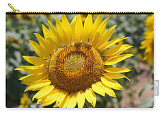 Carry-all Pouch featuring the photograph Sunflower by Donna  Smith