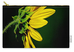 Carry-all Pouch featuring the photograph Sunflower In Profile by Vicki Pelham