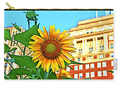 Carry-all Pouch featuring the photograph Sunflower In The City by Alice Gipson
