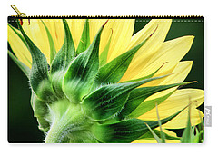 Carry-all Pouch featuring the photograph Sunflower With Bee by Lynne Jenkins