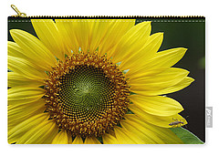 Carry-all Pouch featuring the photograph Sunflower With Insect by Daniel Reed