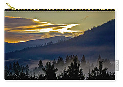 Carry-all Pouch featuring the photograph Sunrise And Valley Fog by Albert Seger