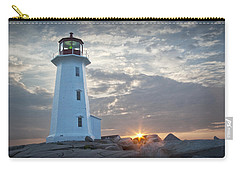 Sunrise At Peggys Cove Lighthouse In Nova Scotia Number 041 Carry-all Pouch