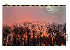 Carry-all Pouch featuring the photograph Sunrise Behind The Trees by Mark Dodd